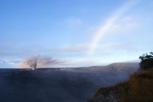 Volcanic ash from the Kilauea volcano in Hawai'i (USGS)
