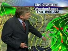 Wet weather expected into Thursday afternoon