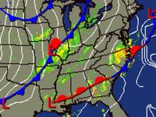 Cold front approaching Southeast