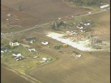 Web only: Sky 5 tour of tornado damage in Kenly area