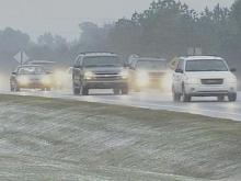 Snow falls in Clayton