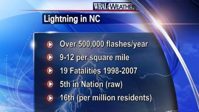 A few statistics regarding lightning in our state.