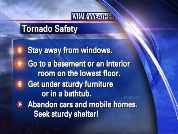 Tornado safety tips while driving