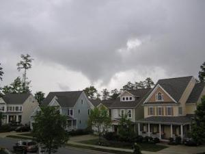 Severe weather moves across Apex on Tuesday, May 5, 2009.