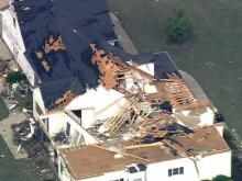 Web only: Sky 5 tour of storm damage