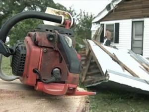 Severe weather damaged a house Friday in the Anderson Creek area of Harnett County.
