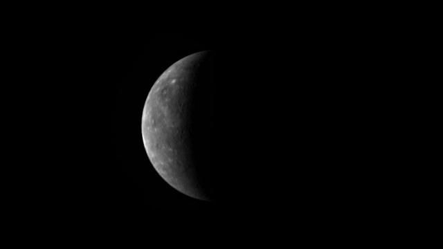 NASA's MESSENGER spacecraft took this image of Mercury on September 28, 2009, on the way to its third flyby of the planet.  (Credit: NASA/Johns Hopkins University Applied Physics Laboratory/Carnegie Institution of Washington)
