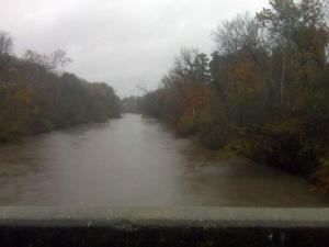 The level of the Neuse River was rising in Johnston County on Nov. 11, 2009.