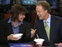 WRAL anchors eat snow cream