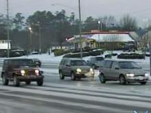 Raleigh police: If you must go, drive slow