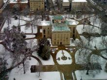 Raleigh Capitol building snow