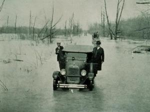Flooding as a danger and inconvenience to cars - not a new problem, as seen in this 1927 image from the NOAA Photo library!