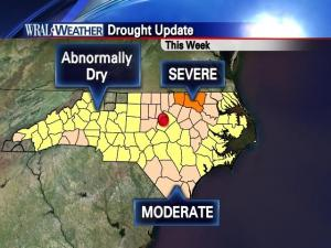 The latest drought update for North Carolina, valid for the week of September 14, 2010.