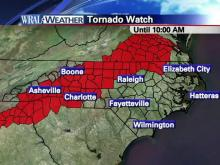Western part of N.C. under tornado watch