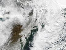 Aqua MODIS image of the northeastern U.S. on Monday, Dec 27, 2010, from the NASA MODIS Rapid Response System web site.