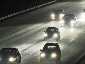 Authorities said road conditions were taking a turn for the worse Monday evening, with slick spots causing wrecks in the Triangle and southern counties.