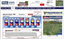Weather forecast for Raleigh from WRAL.com on February 2, 2011.