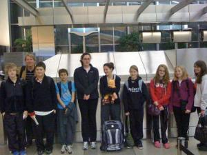 A group of students and teachers from Exploris Middle School depart from the Raleigh-Durham Airport March 10, 2011, for a trip to Japan. They arrived to the island nation minutes after a devastating earthquake struck.