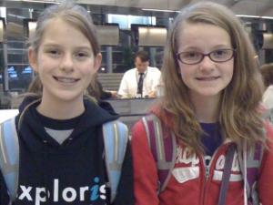 Twelve-year-old twins, Livia and Lauren, depart from the Raleigh-Durham Airport March 10, 2011, for a trip to Japan. They arrived to the island nation minutes after a devastating earthquake struck.