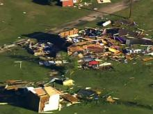 Sky 5: Storm damage in Johnston County