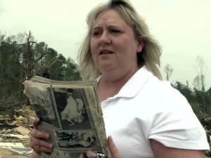 The April 16, 2011, tornado that destroyed Beth Pope's Sanford home carried her high school yearbook to Cary, where SAS workers recovered it and had it returned to her.