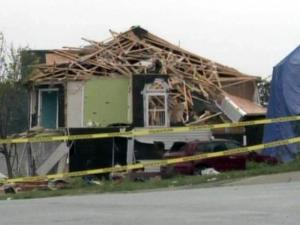 A home on Serendipity Drive in northeast Raleigh sustained heavy damage in an April 16, 2011, tornado.