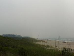 Smoke from wildfires creates a haze over Atlantic Beach on Wednesday, June 22, 2011. (Viewer-submitted photo)