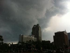 A view of downtown Raleigh before strong storms moved in on June 27, 2011. (Submitted by Sam Cederas)
