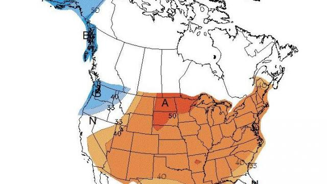 Temperature outlook for the 6-10 day period from the Climate Prediction Center, showing above-normal readings likely across much of the country through early August.