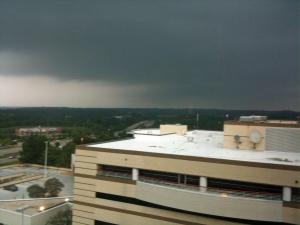 Looking northest from the fifth floor of WakeMed. (Photo submitted by Dave Butler)