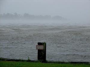 Storm surge in Edenton