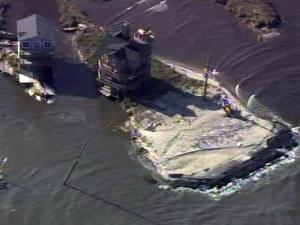 Sky 5: Irene damage to Outer Banks