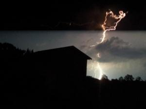 Lighting shot in South Hill, Virginia 9-27-11 (Photo submitted by Diane Kennedy)