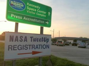 Check-in at the Kennedy Space Center (credit: Tony Rice).