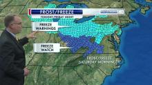 There is a chance for frost, especially across the northern half of the state, Thursday and Friday nights.