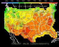 GFS Highs Friday