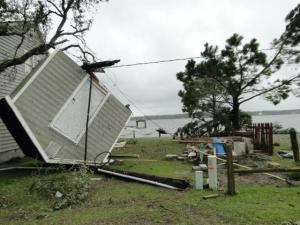 Storms damaged homes and downed trees in Carteret County on Wednesday, May 30, 2012. (Photos courtesy WNCT)