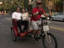 Raleigh's rickshaw bikers can't escape heat