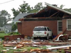 Storm damage in Stantonsburg, NC, Aug. 11, 2012.
