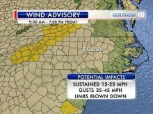 Wind advisory, Dec. 21, 2012