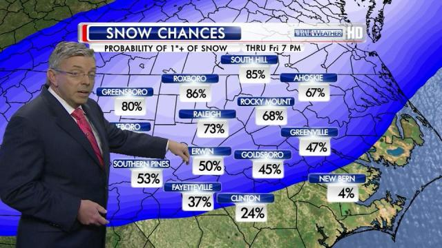 Fishel: Snow on its way to Triangle
