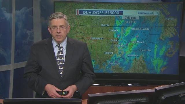 WRAL weather update, 8 p.m.