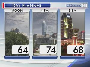 Saturday will be warm, but cloudy and with the chance for showers.