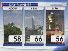 weather planner for Saturday, March 30, 2013
