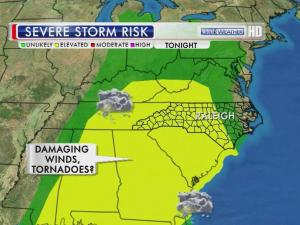 Elevated risk of severe storms Friday, April 12, 2013
