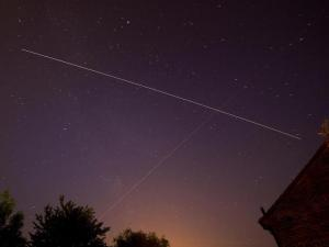 A long exposure photo of the ISS passing over West Sussex, UK. (Photo credit: Ben Burchell)
