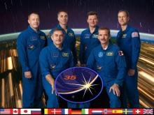 Expedition 35 crew (L-R): Alexander Misurkin, Pavel Vinogradov, Chris Cassidy, Roman Romanenk, Chris Hadfield, and Tom Marshburn (Photo credit: NASA)