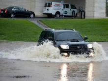 Andrea dumps rain, causes flooding in NC