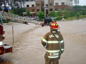 Raleigh firefighters rescue motorists stranded in flood waters Friday,