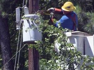 Utility crews are trying to restore power to thousands of customers across the Triangle following a line of severe storms on June 13, 2013.
